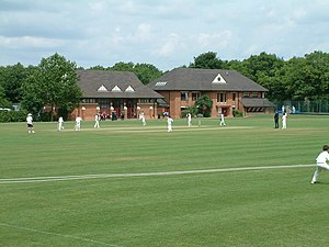 Bancroft's School - A school cricket match in front of the prep school