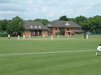 Bancroft's School - A school cricket match in front of the prep school