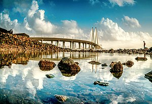 Bandra–Worli Sea Link - Bandra Worli Sealink During Early Monsoon
