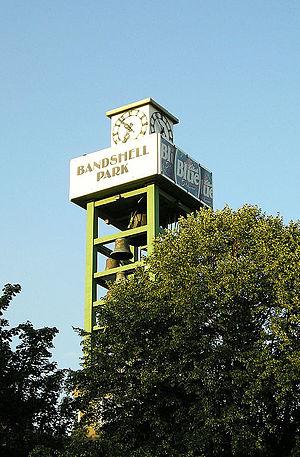 CNE Bandshell - Carillon tower in Bandshell Park