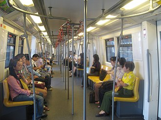 BTS Skytrain - Interior of a train