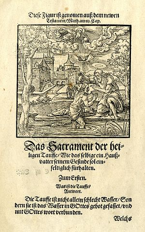Christ unser Herr zum Jordan kam - The Baptism of Christ from Luther's Small Catechism, 1550