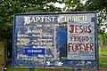 Baptist Church, New Lane, Oswaldtwistle, Sign - geograph.org.uk - 648889.jpg