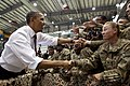 Barack Obama greeting troops at Bagram Airfield 2012.jpg