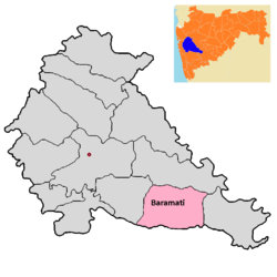 Baramati tehsil in Pune district.png