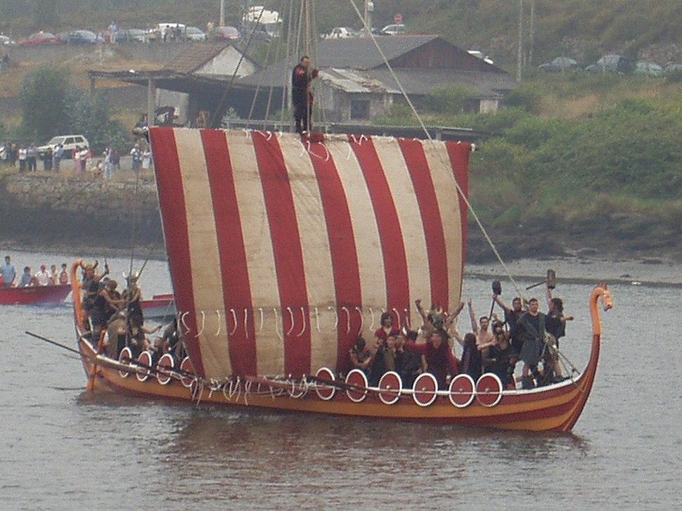 Barco viquingo festa catoira