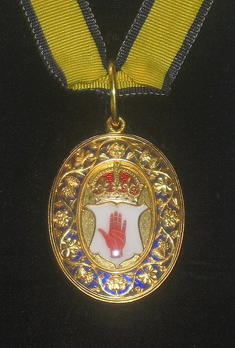 Baronet - Neck decoration for baronets of the United Kingdom, depicting the Red Hand of Ulster