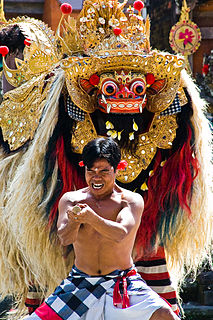 Indonesian lion-like creature and character in the mythology of Java and Bali