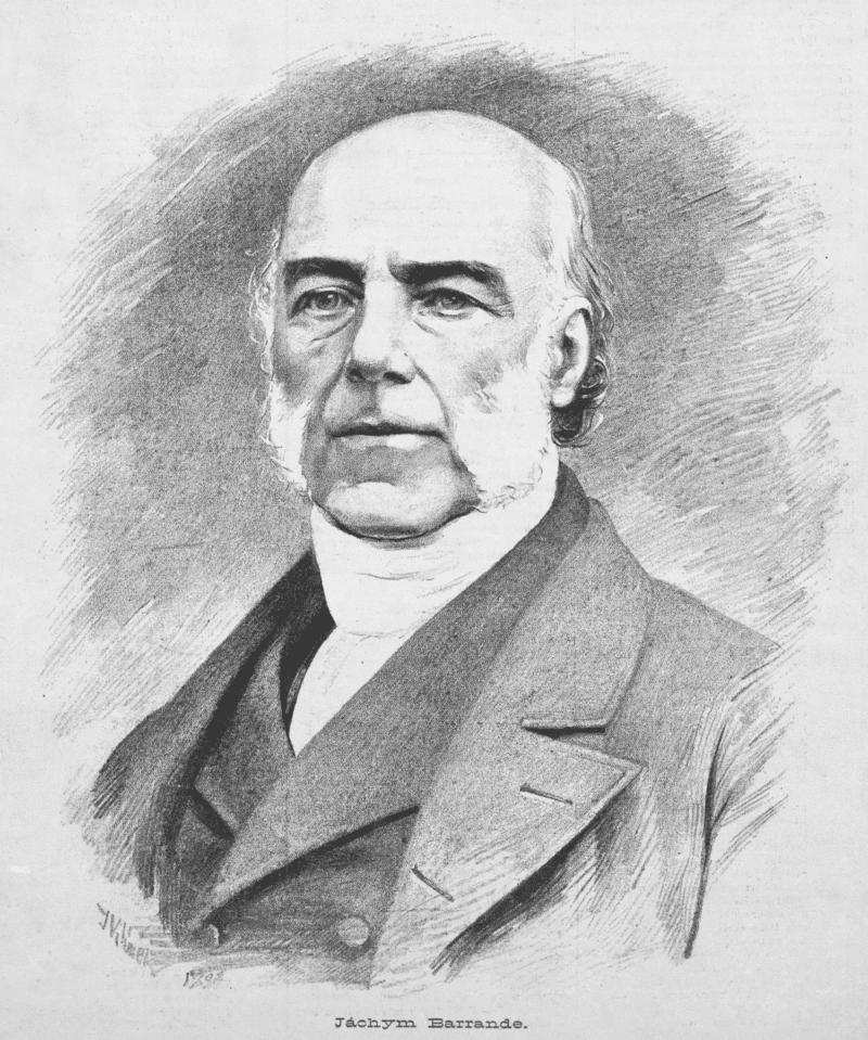 Joachim Barrande na portrétu z roku 1883