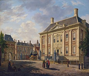 Mauritshuis - The Mauritshuis in 1825.
