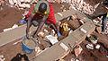 Base of toilet during construction - Base des toilettes pendant la construction (2708009420).jpg