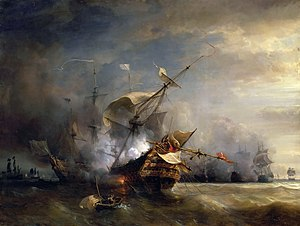 Claude de Forbin - Battle at The Lizard (1707), by Jean Antoine Théodore de Gudin.