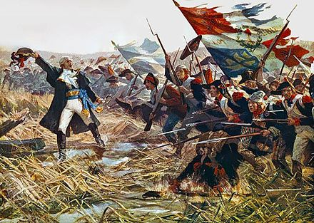 The French Revolutionary Army at the Battle of Jemappes (1792) Bataille Jemmapes.jpg