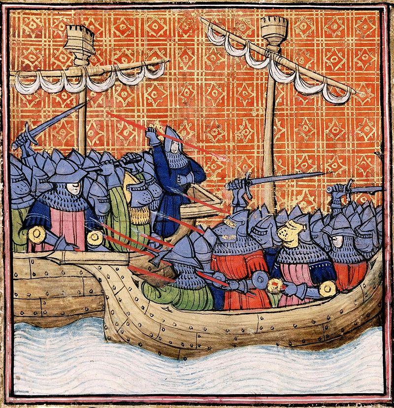 Bataille navale devant La Rochelle XIVeme siecle.jpg