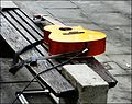 Bath ... guitar at rest. - Flickr - BazzaDaRambler.jpg