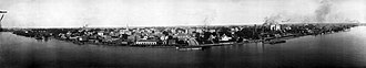 History of Baton Rouge, Louisiana - Baton Rouge waterfront during the record high water of the Mississippi River Flood of 1912