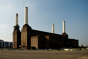 Animals (Pink Floyd album) - Battersea Power Station is the subject for the album's cover image.