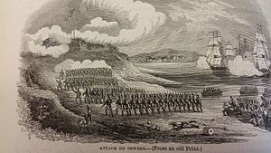 Battle of Fort Oswego (1814) - Image: Battle of Oswego
