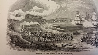 Battle of Fort Oswego (1814) - The British landing force during the Battle of Oswego