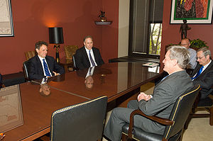 Timothy Geithner - Treasury Secretary designee Geithner meets then-Finance Committee Chairman Max Baucus on November 25, 2008