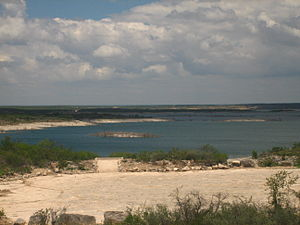Amistad Reservoir - Rocky beach on Lake Amistad west of Del Rio, Texas