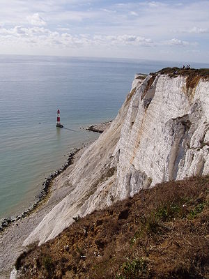 Geography of Sussex - The lighthouse under Beachy Head