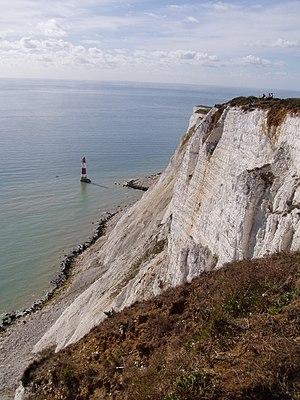 Beachy Head Lighthouse under the cliff, near E...