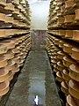 Beaufort dans la cave de la coopérative laitière de Moûtiers.jpg