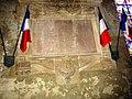 Beaumont-sur-Sarthe (Sarthe) église, plaque commémorant les soldats morts pour la France.jpg
