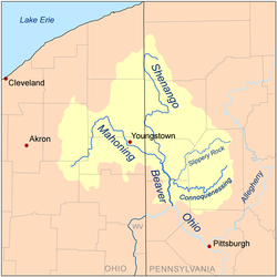 Lake Milton Ohio Map.Mahoning River Wikipedia