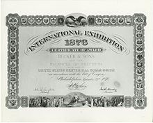 A Certificate of Award to Becker & Sons from the US Centennial Commission Becker & Sons Certificate.jpg