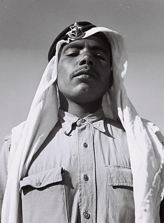 Sword Battalion - A Bedouin serving in one of the minority units of the Israel Defense Forces (13/05/1949).