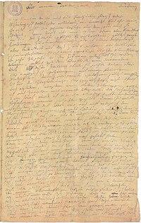 Η πρώτη σελίδα της Διαθήκης Heiligenstadt του Μπετόβεν.