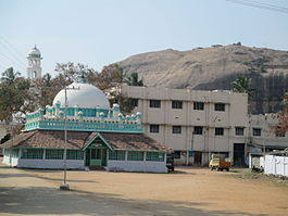 A panoramic view of Begumpur Mosque