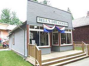 Dry goods - Exterior of a dry goods store in Burnaby Village Museum, British Columbia, Canada