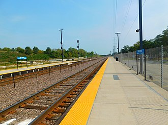 Bellwood station (Metra) - Image: Bellwood Station
