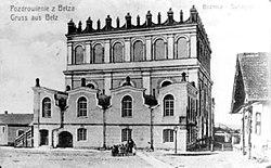 Synagoga w Bełzie, zbudowana w 1843, zniszczona w latach 50. XX wieku
