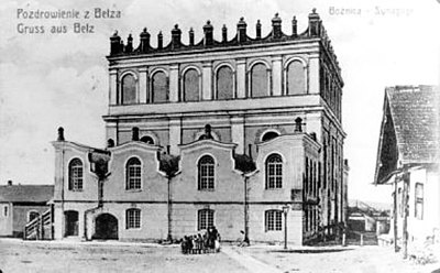 The hasidic synagogue in Belz, dedicated in 1843, and demolished in 1950s.