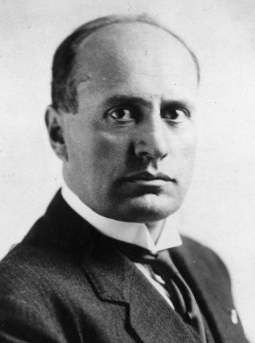 Benito Mussolini crop