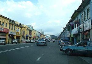 Bentong - Loke Yew Street in Bentong town