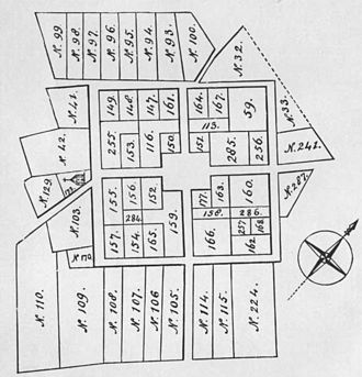 Bergen Square - Map of original settlement