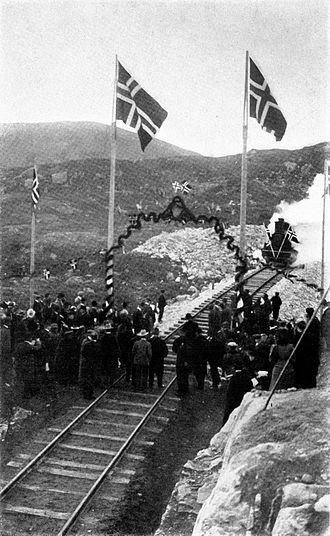 1907 in Norway - The ceremony at the completion of the Bergen Line at Ustaoset.