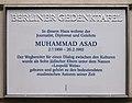 Berliner Gedenktafel Hannoversche Str 1 (Mitte) Muhammad Asad.jpg