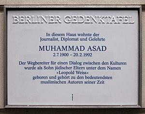 Muhammad Asad - Image: Berliner Gedenktafel Hannoversche Str 1 (Mitte) Muhammad Asad