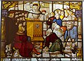 Bernard preaches and heals in Cologne, Cloister of the Cistercian Monastery, Altenberg, Cologne, c. 1505-1520, stained glass - Museum Schnütgen - Cologne, Germany - DSC09753.jpg