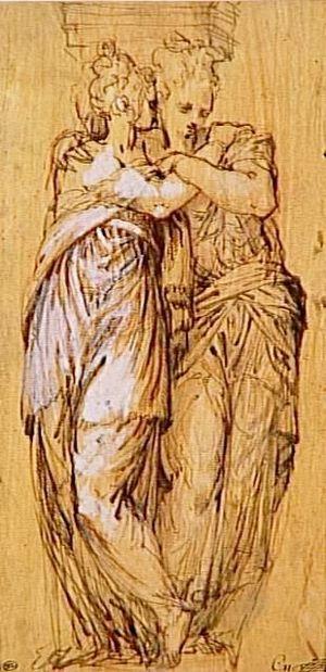 Bernardino India - Bernardino India, Caryatids embraced, Louvre