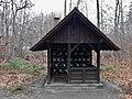 Bernet-Kapelle in Sindelfingen, Ehemalige Schutzhütte für die Waldarbeiter, nach 1945 diente diese den in der Bernet Wohnanlage untergebrachten Vertriebenen als Betraum und Ort der Einkehr - panoramio.jpg