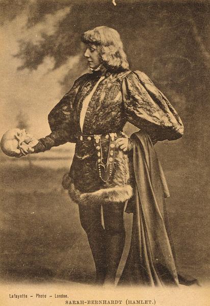 Sarah Bernhardt playing Hamlet