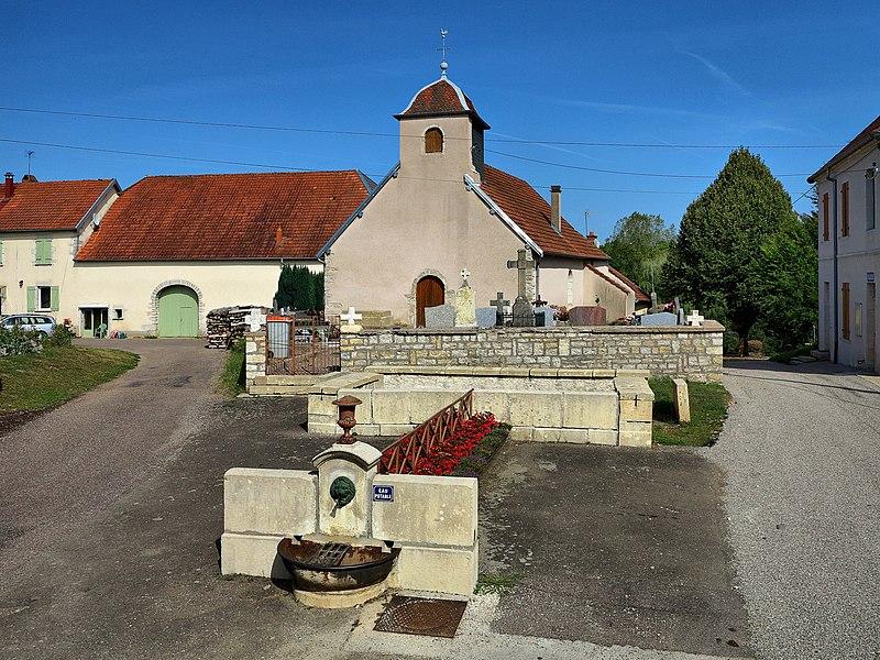 La fontaine et l'église