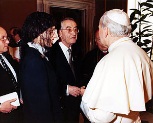 Barbara Aland - Kurt Aland and Barbara Aland visiting Pope John Paul II (1984)